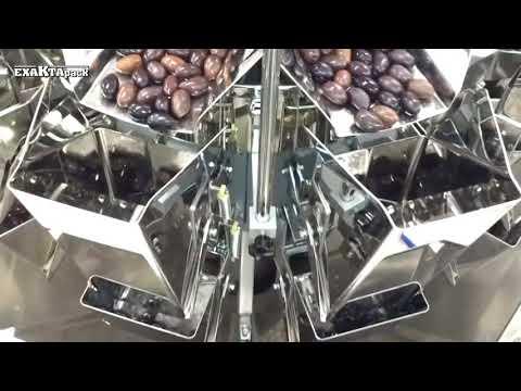 Envasado de olivas enteras en bolsas fondo plano - Doypack