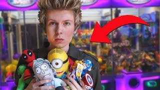 Winning ALL of the Prizes from the Claw Machine!