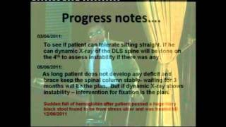 Dr.Mahmood Hasan Value of the Spinal injury Severity Scoring A Case report