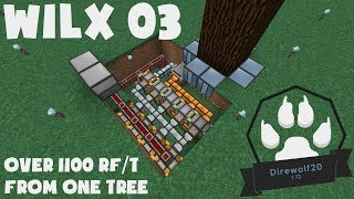 03 - Over 1100rf/t from one Tree - Direwolf20 1.12