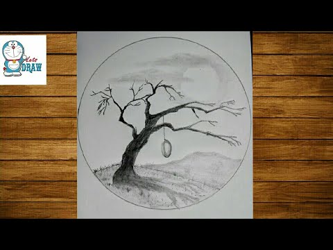 How to draw an easy scenery of nature | pencil sketch for ...