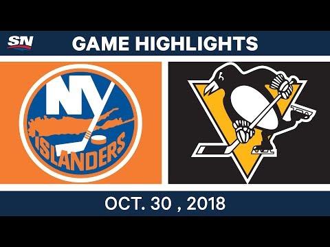 NHL Highlights   Islanders vs. Penguins - Oct. 30, 2018