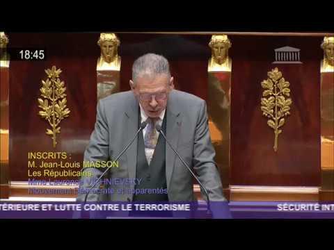 Jean-Louis MASSON (les républicains) : Sécurité intérieure et lutte contre le terrorisme
