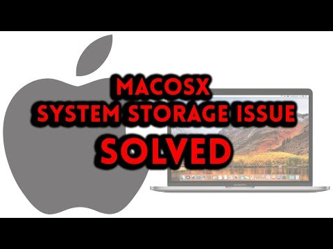 MACOSX - System Storage Issue Solved (NO SOFTWARE NEEDED)