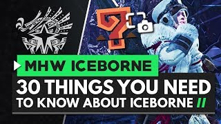 30 Things You Need to Know About Monster Hunter World Iceborne!
