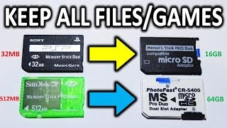 Upgrade Your PSP Memory Card & Keep All Files!