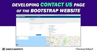 Developing Contact Us Page (with Bootstrap Contact Form) of the Bootstrap Website | Tutorial - 15