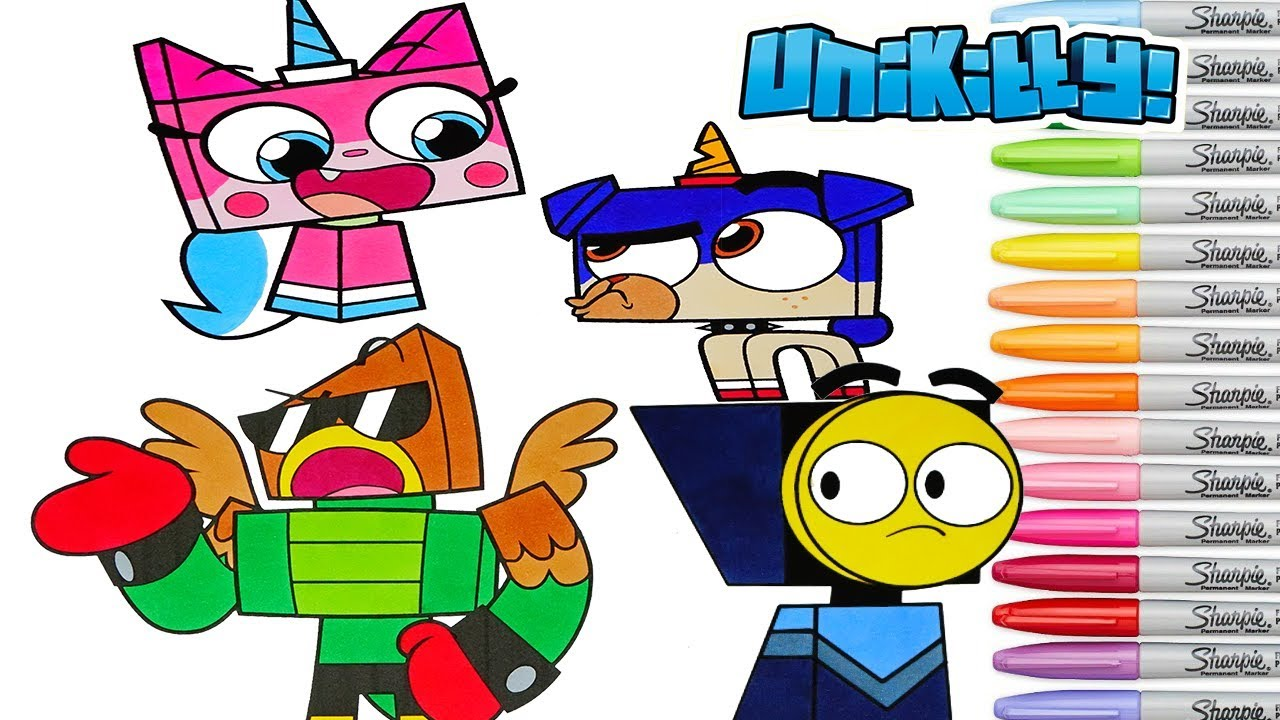 Unikitty Coloring Book Pages Puppycorn