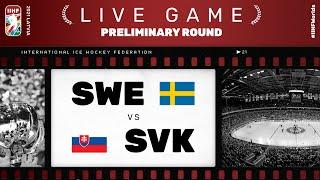 Sweden - Slovakia | Live | Group A | 2021 IIHF Ice Hockey World Championship