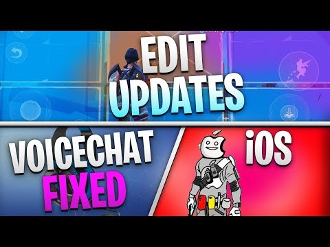 Fortnite Mobile News | IOS Promotion, Edit Updates, Voicechat Fixed, AND MORE!