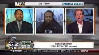 Richard Sherman owns Skip Bayless on ESPN First Take-Is he too cocky?