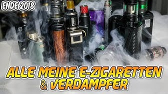 MEINE E-ZIGARETTEN & VERDAMPFER | Stand Ende 2018 #VapeDay