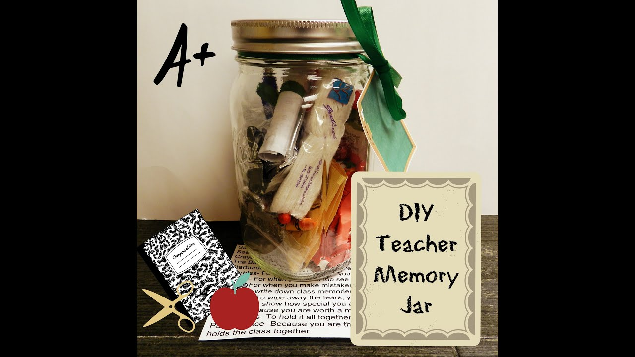 Teachers Memory Jar DIY Mason Jar Gift