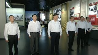 Chinese Top Leaders Visit Exhibition of War Against Japanese Aggression, World Anti-Fascist War