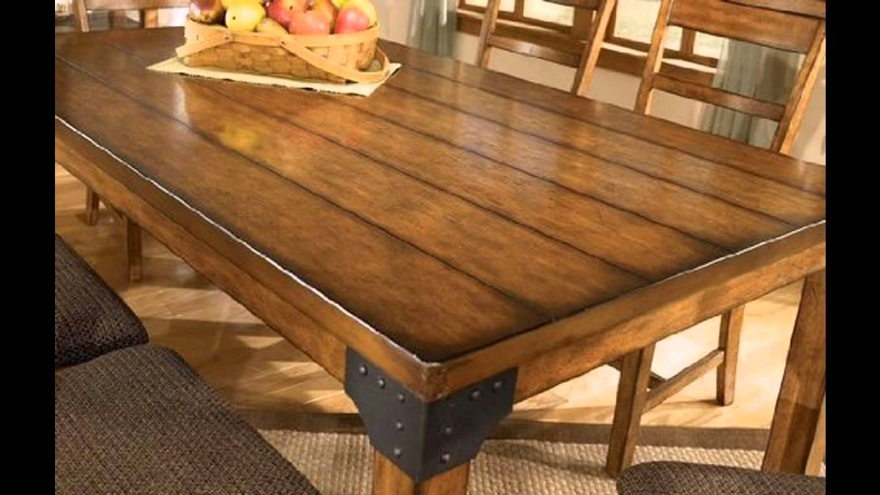 Rustic dining room tables ideas - YouTube