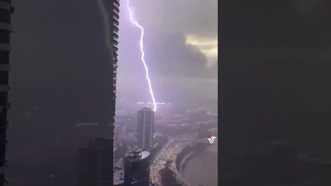 Download ⚡ Thunderstorm caused a Stir in Brisbane, Queensland, Australia #shorts