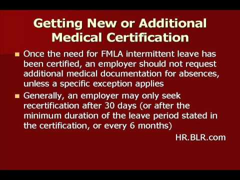 Employer Requests for FMLA Recertification: What Are the Rules? Ask ...