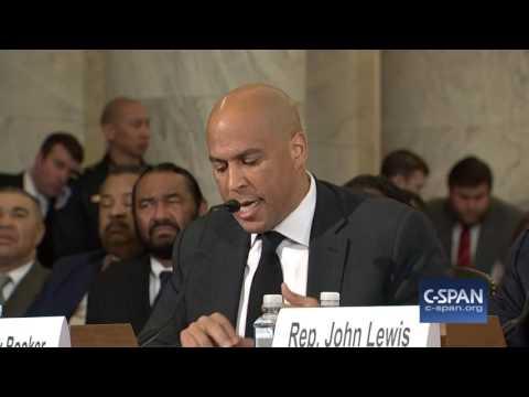 Sen. Cory Booker complete testimony against Senator Sessions (C-SPAN)