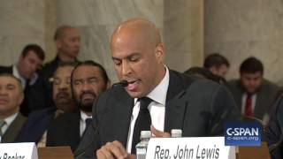 Repeat youtube video Sen. Cory Booker complete testimony against Senator Sessions (C-SPAN)
