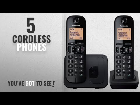 Top 10 Cordless Phones [2018]: Panasonic KX-TGC212EB Digital Cordless Phone With LCD Display (Two