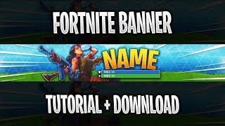 FORTNITE BANNER TEMPLATE | Photoshop Tutorial - FREE DOWNLOAD #1