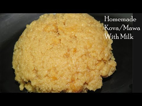 Homemade Kova With Milk-Pachikova In Teligu-How ToMake Milk Kova-Palakova Recipe In Telugu-Mawa/koya