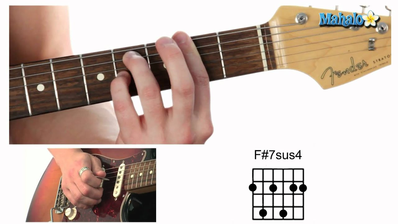How To Play An F Sharp Seven Suspended Four F7sus4 Chord On