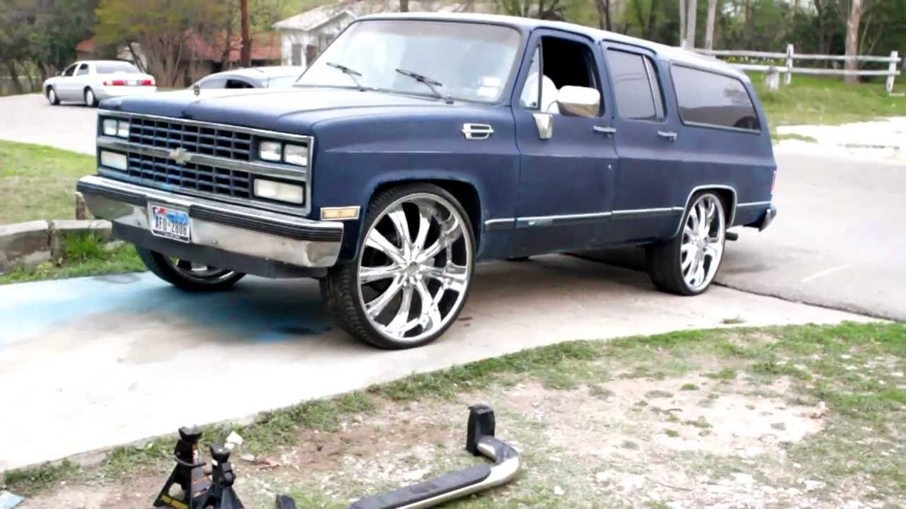 All Chevy 1989 chevy : Coolys 1989 Chevy Suburban on 28s (B4-ThePaintJob) - YouTube