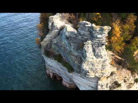 Pictured Rocks National Lakeshore Aerial Video Footage - Hello Aerial
