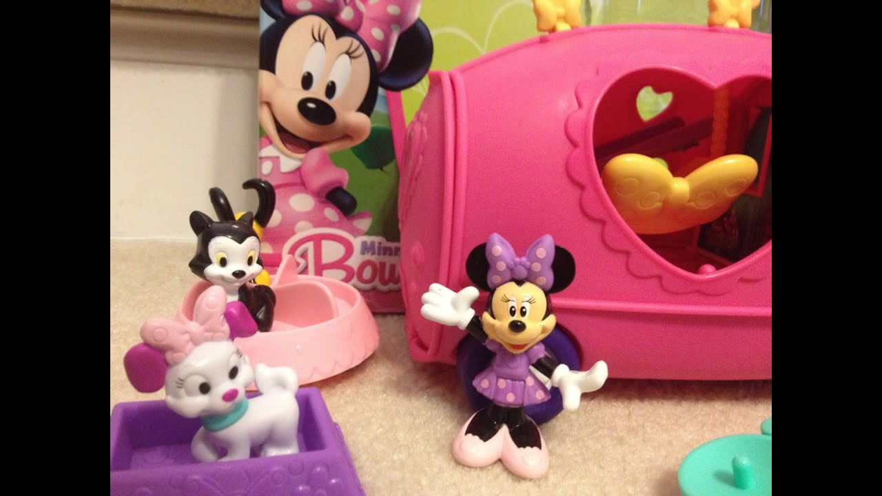 MINNIE MOUSE Pet Tour Van Playset Unboxing And Review