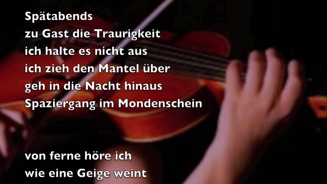 Die Geige Weint Bernd Töpfer Gedicht 354
