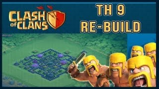 Clash Of Clans: Town Hall 9 Farming Base Build - Timelapse