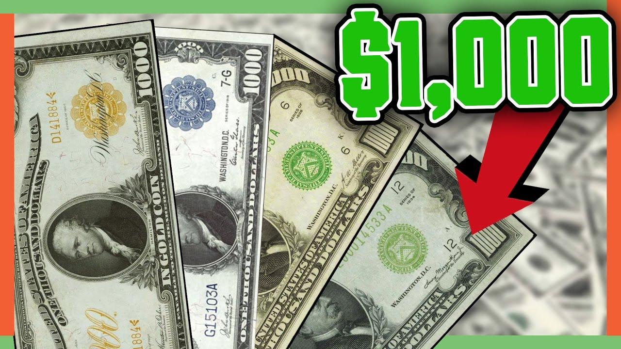 HIGH DENOMINATION BILLS - RARE THOUSAND DOLLAR BILLS WORTH ...
