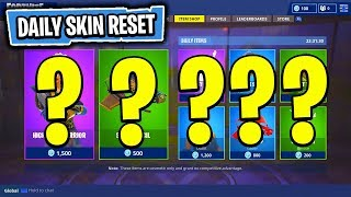 The NEW Daily Skin Items In Fortnite: Battle Royale! (Skin Reset #47)