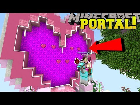 Minecraft: PORTAL TO THE VALENTINE'S DAY DIMENSION!!! - Custom Map thumbnail