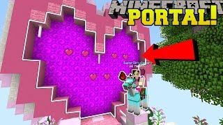 Minecraft: PORTAL TO THE VALENTINE'S DAY DIMENSION!!! - Custom Map