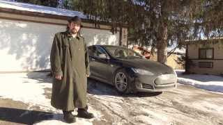 Tesla Motors Model S: SUB ZERO! -30 Degrees!  Interior is OVER 100*F WARMER Then Exterior!!!