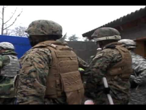 U.S. Marine Corps Forces Europe, Africa Marines attend non-lethal weapons training