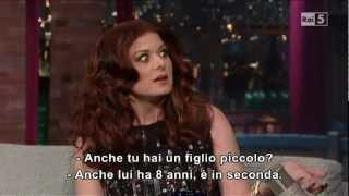 Debra Messing al David Letterman Show