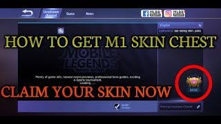 How to get mobile legends M1 skin chest || claim your free skin now || #mlbbM1