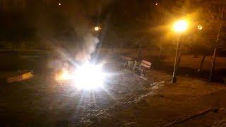 white strobe fountain explosion/взрыв стробо-фонтана
