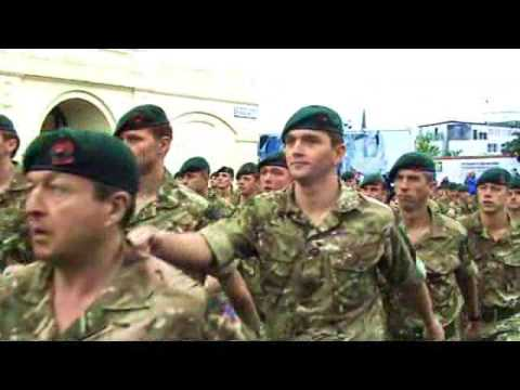 9 Commando Royal Marines. Freedom of the City. Back From Afghanistan