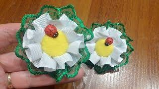 """""""Ромашки от Наташки"""", бантики-цветочки, МК резиночек для девочек"""