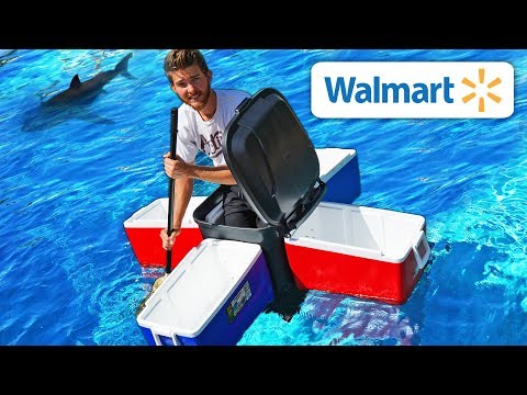 We Built Boats using ONLY Walmart Items!! *EXTREME BOAT SURVIVAL TEST*