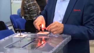 1 Kasım için ilk oylar sandıkta