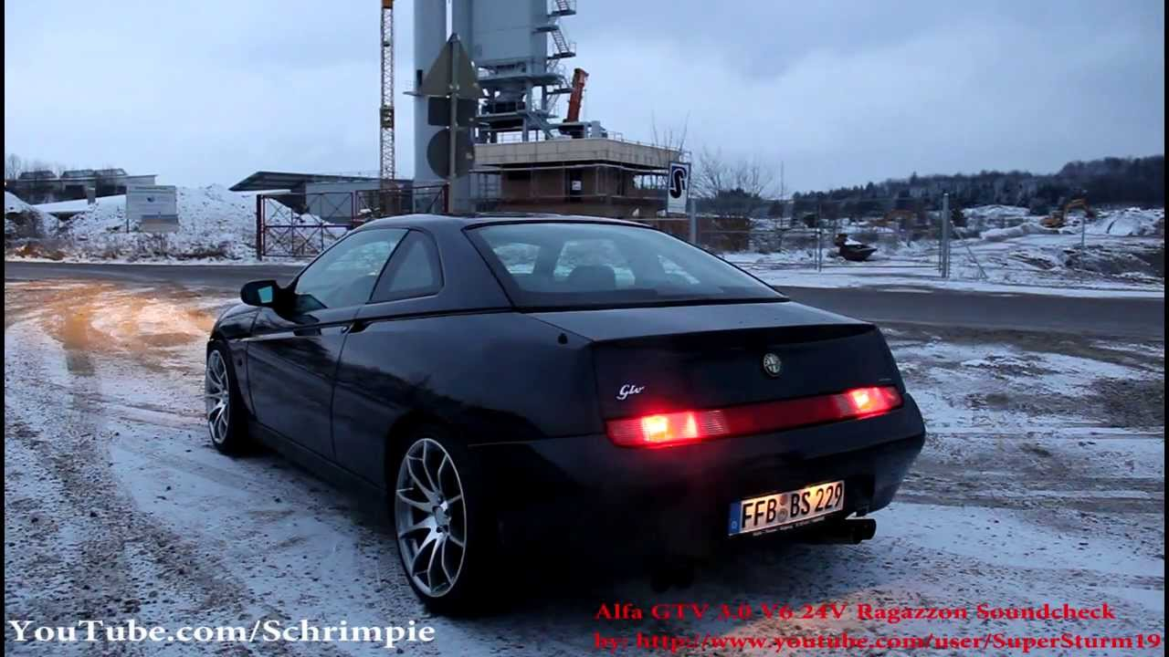 alfa romeo gtv v6 best exhaust sounds youtube. Black Bedroom Furniture Sets. Home Design Ideas