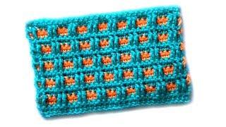 Двухцветный узор Маленькие клеточки