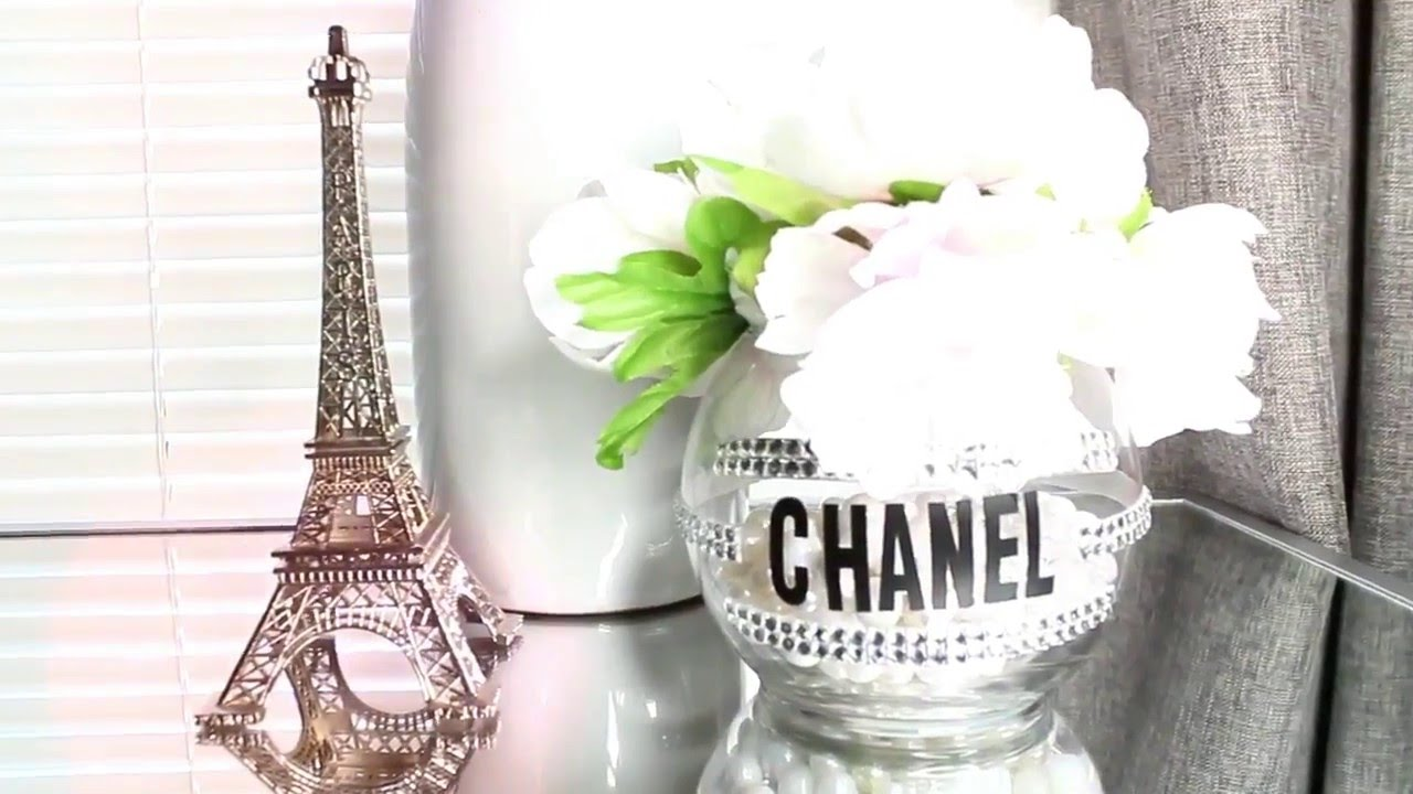 chanel decoracion diy florero chanel