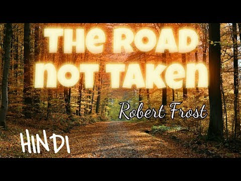 the road not taken in hindi