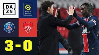 PSG siegt durch Kean-Treffer und späten Doppelschlag: PSG - Brest 3:0 | Ligue 1 | DAZN Highlights